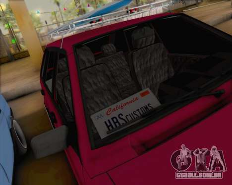 ВАЗ 2109 Baixa Clássico para GTA San Andreas vista interior