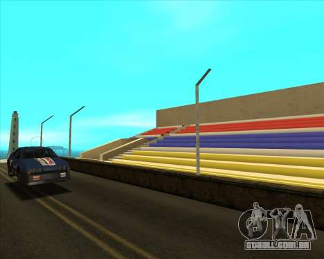 Sky Road Merdeka para GTA San Andreas por diante tela