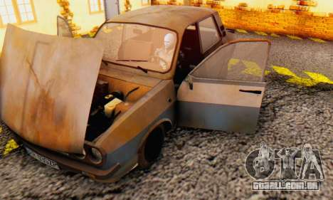 Dacia 1310 MLS Rusty Edition 1988 para GTA San Andreas vista interior
