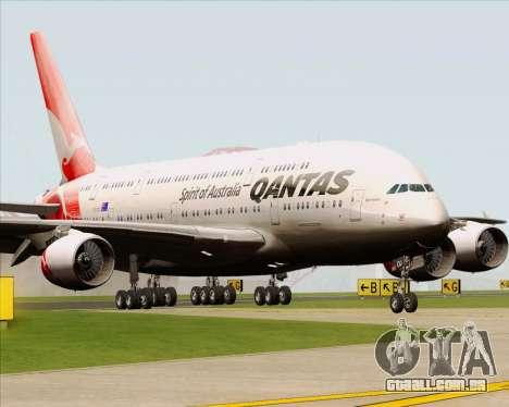 Airbus A380-841 Qantas para GTA San Andreas esquerda vista