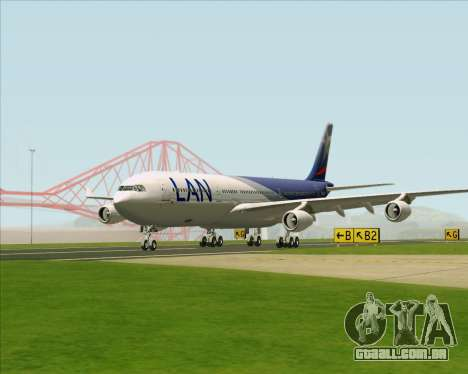 Airbus A340-313 LAN Airlines para GTA San Andreas vista interior