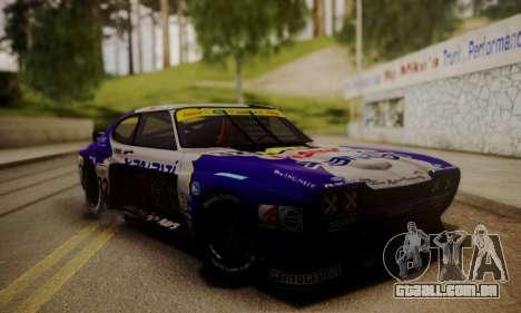 Ford Capri RS Cosworth 1974 Skinpack 3 para GTA San Andreas vista direita