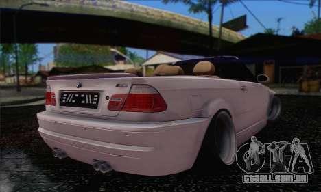 BMW M3 Cabrio para GTA San Andreas esquerda vista