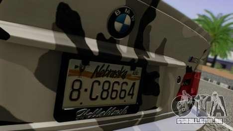 BMW M3 E46 Coupe 2005 Hellaflush v2.0 para GTA San Andreas vista interior