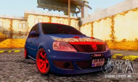 Dacia Logan Turkey Tuning para vista lateral GTA San Andreas