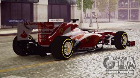 Ferrari F138 v2 para GTA 4 esquerda vista