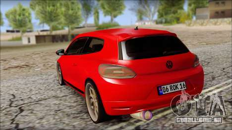 Volkswagen Scirocco Soft Tuning para GTA San Andreas traseira esquerda vista