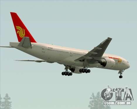 Boeing 777-200ER Air China para GTA San Andreas vista traseira