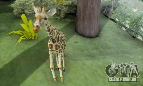 Giraffe (Mammal) para GTA San Andreas por diante tela