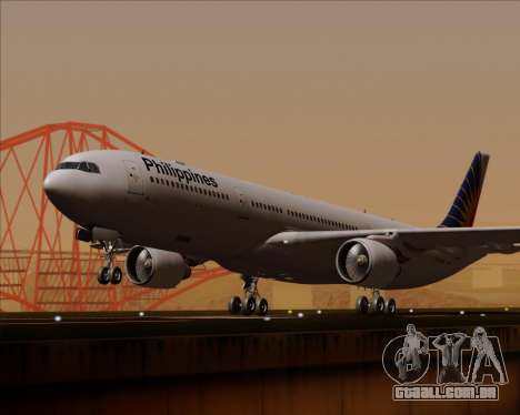 Airbus A330-300 Philippine Airlines para GTA San Andreas vista traseira