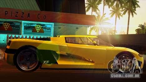 GTA 5 Entity XF para GTA San Andreas traseira esquerda vista