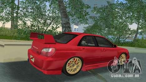 Subaru Impreza WRX 2002 Type 6 para GTA Vice City vista direita