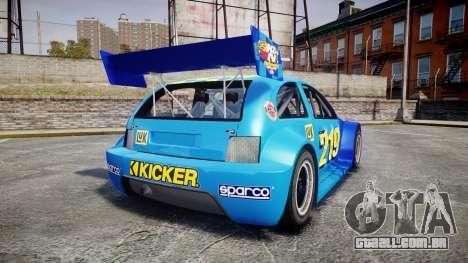 Zenden Cup Kicker para GTA 4 traseira esquerda vista