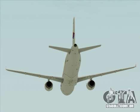 Airbus A321-231 Spanair para GTA San Andreas vista superior