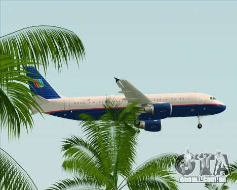 Airbus A320-232 United Airlines (Old Livery) para GTA San Andreas vista inferior