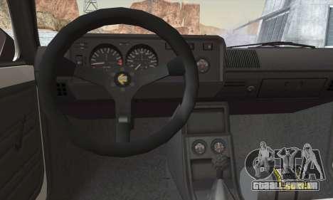 Volkswagen Golf Mk1 GTi para GTA San Andreas traseira esquerda vista