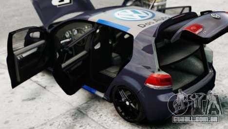 Volkswagen Golf R 2010 Polo WRC Style PJ2 para GTA 4 vista de volta