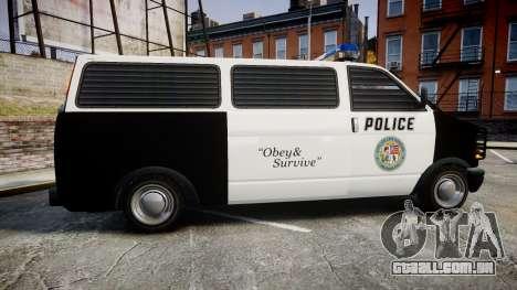 Declasse Burrito Police Transporter ROTORS [ELS] para GTA 4 esquerda vista
