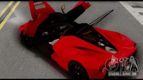 Ferrari LaFerrari 2014 (IVF) para GTA San Andreas vista direita