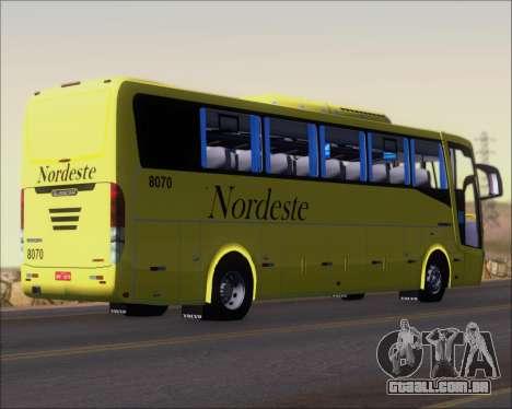 Busscar Elegance 360 Viacao Nordeste 8070 para GTA San Andreas vista direita
