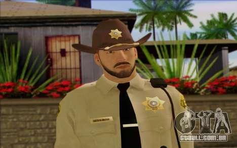 Polícia (GTA 5) Pele 1 para GTA San Andreas terceira tela