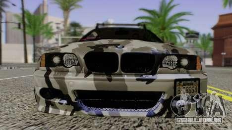BMW M3 E46 Coupe 2005 Hellaflush v2.0 para GTA San Andreas vista traseira