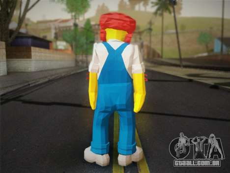 O Zelador Willy De Os Simpsons: Road Rage) para GTA San Andreas segunda tela