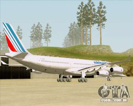 Airbus A340-313 Air France (New Livery) para GTA San Andreas traseira esquerda vista