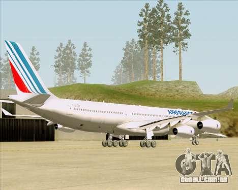Airbus A340-313 Air France (New Livery) para GTA San Andreas traseira esquerda vista