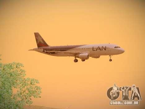 Airbus A320-214 LAN Airlines para GTA San Andreas vista traseira