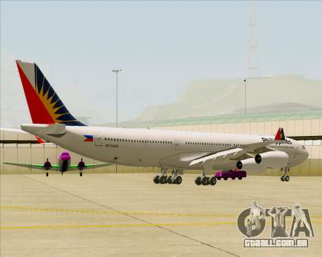 Airbus A340-313 Philippine Airlines para GTA San Andreas vista traseira