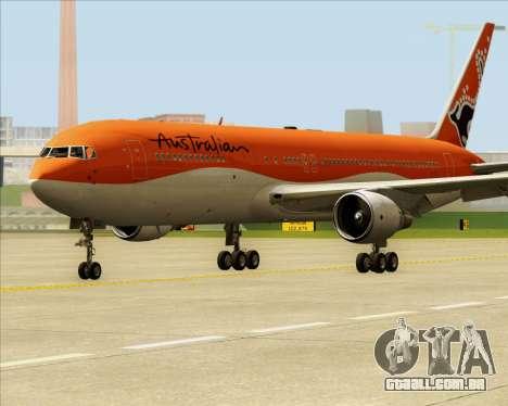 Boeing 767-300ER Australian Airlines para GTA San Andreas esquerda vista