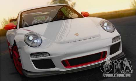 Porsche 911 GT3 2010 para GTA San Andreas vista traseira