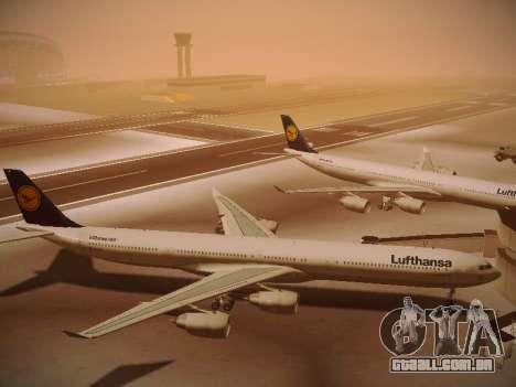 Airbus A340-600 Lufthansa para GTA San Andreas vista interior