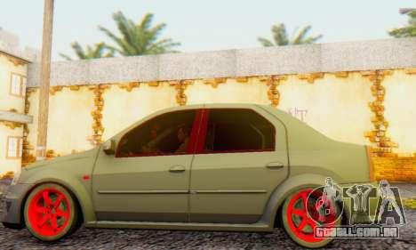 Dacia Logan Turkey Tuning para GTA San Andreas traseira esquerda vista