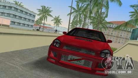 Subaru Impreza WRX 2002 Type 6 para GTA Vice City deixou vista