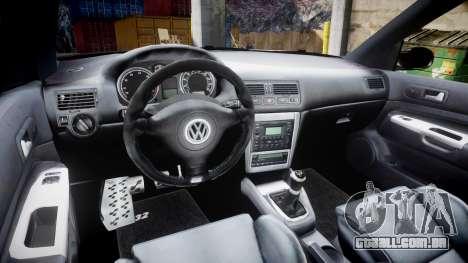 Volkswagen Golf Mk4 R32 Wheel2 para GTA 4 vista de volta