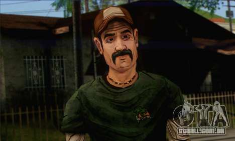 Kenny from The Walking Dead v1 para GTA San Andreas terceira tela