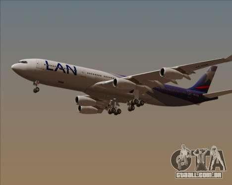 Airbus A340-313 LAN Airlines para vista lateral GTA San Andreas