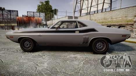 Dodge Challenger 1971 v2.2 PJ3 para GTA 4 esquerda vista
