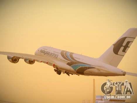 Airbus A380-800 Malaysia Airlines para GTA San Andreas vista direita