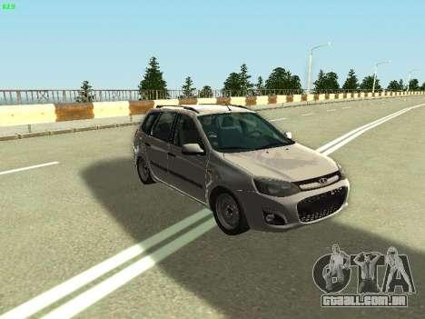 Lada Kalina 2 Vagão para GTA San Andreas vista direita