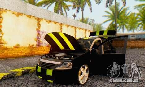 Dacia Logan Black Style para GTA San Andreas vista interior