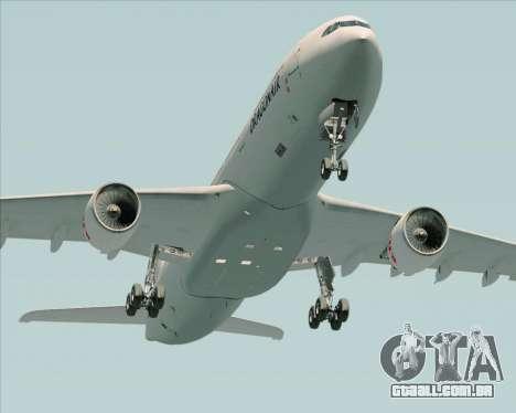 Airbus A330-300 Dragonair para GTA San Andreas vista inferior