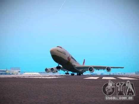 Boeing 747-438 Qantas Boxing Kangaroo para GTA San Andreas vista inferior