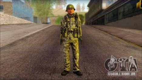 Um soldado Norte-coreano (Rogue Warrior) para GTA San Andreas
