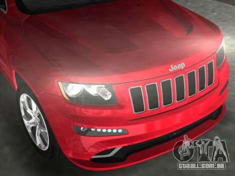 Jeep Grand Cherokee SRT-8 (WK2) 2012 para GTA Vice City vista direita