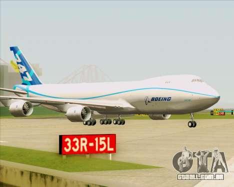 Boeing 747-8 Cargo House Livery para GTA San Andreas vista superior