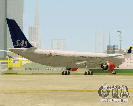 Airbus A330-300 Scandinavian Airlines System. para GTA San Andreas vista direita
