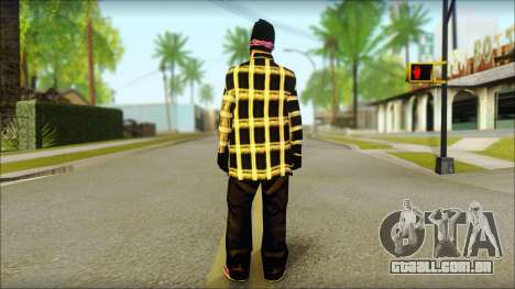 East Side Ballas Skin 3 para GTA San Andreas segunda tela